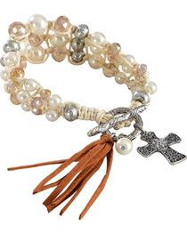 Shyanne Women's Peral Bead Bracelet, , hi-res