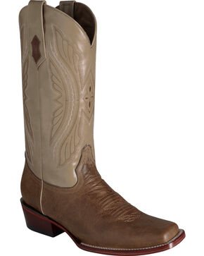 Ferrini Men's Antique Tan Kangaroo Western Boots - Square Toe, Tan, hi-res