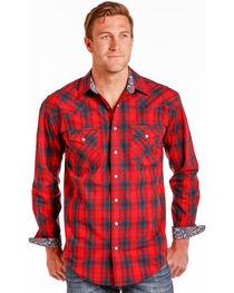 Rough Stock by Panhandle Men's River North Vintage Ombre Plaid Snap Shirt, , hi-res