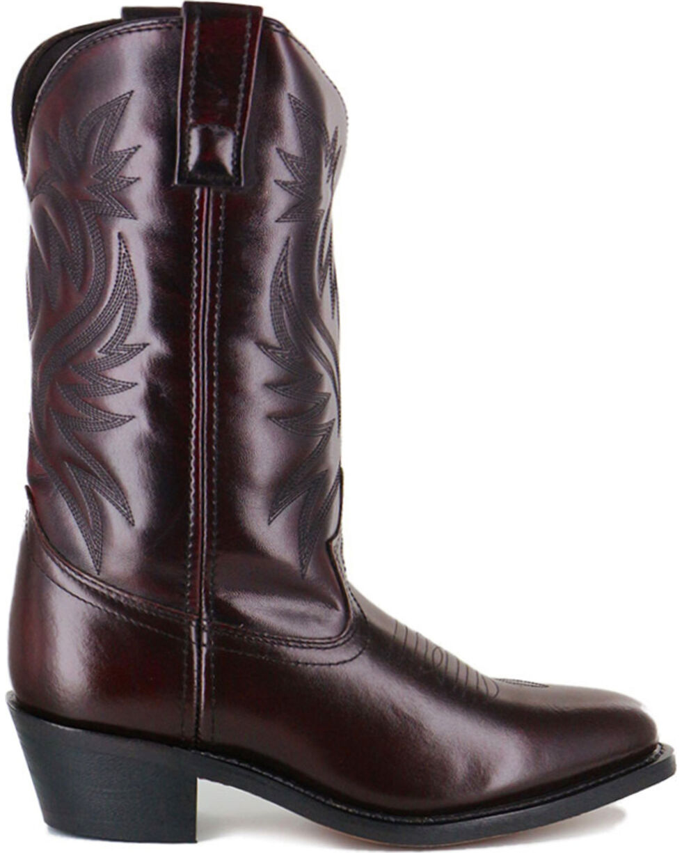 Cody James® Men's Black Cherry Embroidered Western Boots, Black Cherry, hi-res