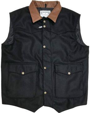 Schaefer Outfitter Men's 713 Wool Cattleman Vest - 3XL, Black, hi-res