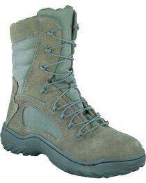 "Reebok Men's 8"" Lace-Up Side Zip Tactical Work Boots - Steel Toe, , hi-res"