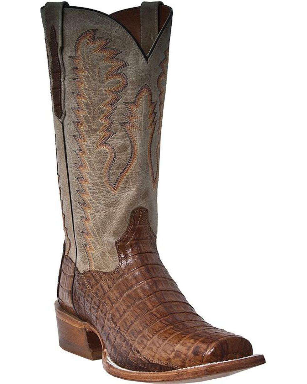 Dan Post Men's Cowboy Certified Caiman Western Boots, Bay Apache, hi-res