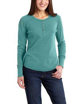 Carhartt Hayward Henley Shirt, Blue, hi-res