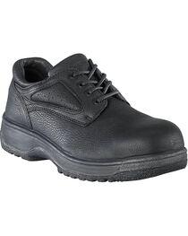 Florsheim Men's Fiesta Composite Toe Black Lace-Up Oxford Shoes, Black, hi-res