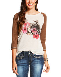 Ariat Women's Cream Cowgirls Are Forever Tee , , hi-res
