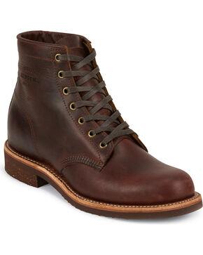 Chippewa Men's Cognac General Utility Service Boots - Round Toe, Cognac, hi-res