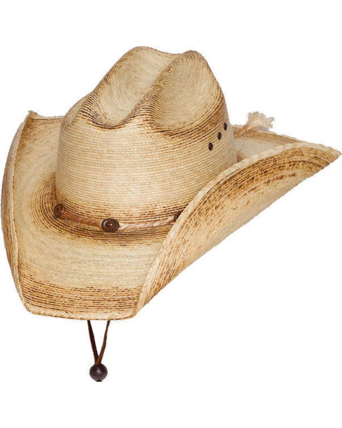 Western Express Palm Sonora Western Hat, Tan, hi-res