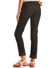 Miss Me Girls' Black Embellished Cuff Skinny Jeans , , hi-res