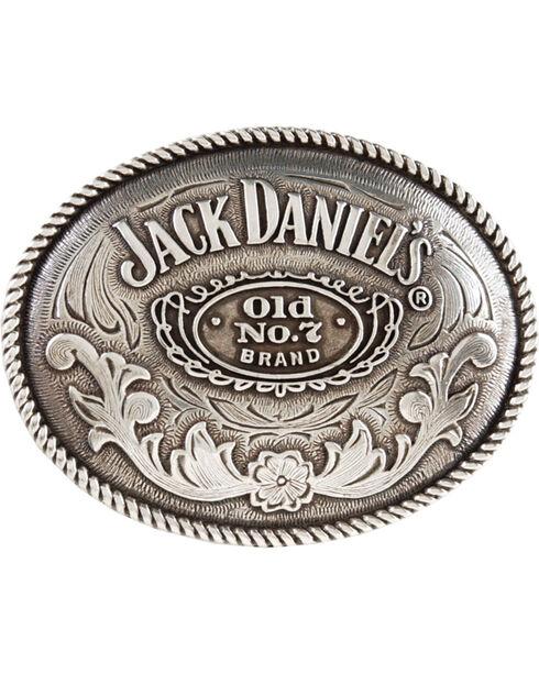 Jack Daniel's Oval Belt Buckle, Silver, hi-res