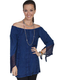 Scully Women's Embroidered Lace Blouse, , hi-res