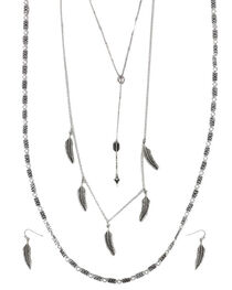 Shyanne® Women's Feather & Arrow Jewelry Set, , hi-res
