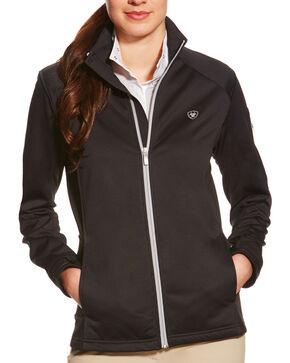 Ariat Women's Black Saga Full Zip Jacket, Black, hi-res