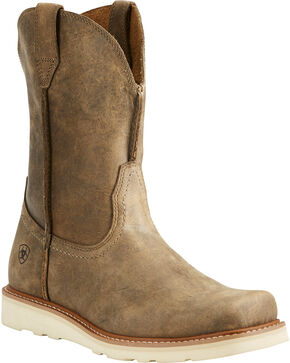 Ariat Men's Rambler Recon Light Brown Work Boots - Square Toe, Lt Brown, hi-res