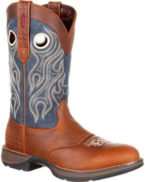 Durango Men's Rebel Saddle Western Boots, Brown, hi-res