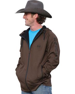 Cinch Men's Zip-Front Hooded Jacket, Brown, hi-res