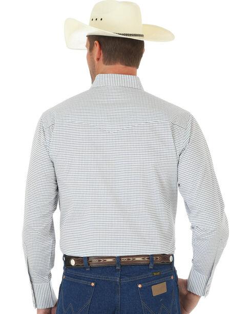 Wrangler Wrinkle Resist Men's Grey & Brown Plaid Western Shirt , Brown, hi-res
