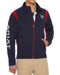 Ariat Team Logo Softshell Jacket, Navy, hi-res