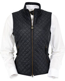 Outback Trading Co. Women's Black Bunbury Quilted Leather Vest, , hi-res