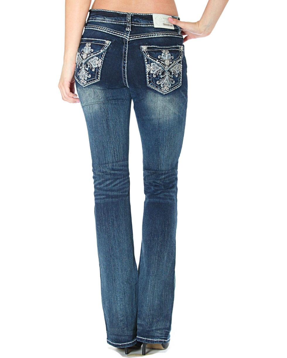 Grace in LA Women's Cross Flap Pockets Jeans - Boot Cut, , hi-res
