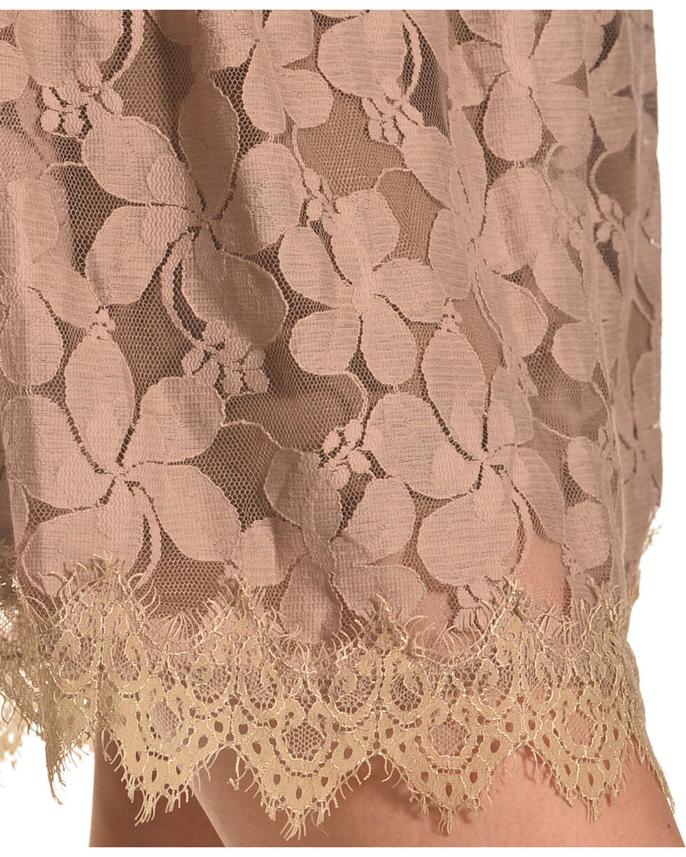 Young Essence Floral Lace Dress, Taupe, hi-res