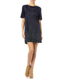 Miss Me Navy Crewneck Dress, , hi-res