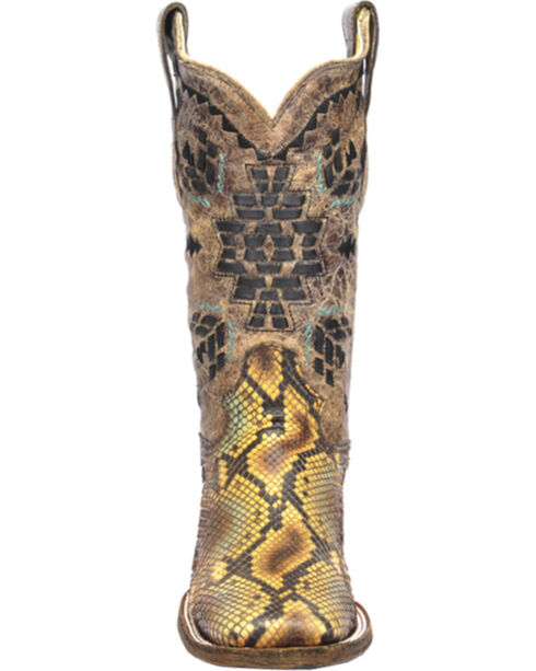 Corral Women's Aztec Python Exotic Boots, Tan, hi-res