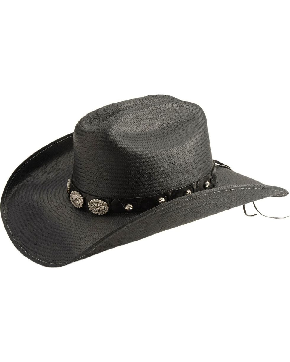 Bullhide Women's Girls Lie Too Straw Hat, Black, hi-res