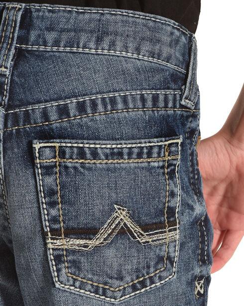 """Rock & Roll Cowboy Boys' Reflex Revolver """"V"""" Jeans (4-20) - Boot Cut, Indigo, hi-res"""