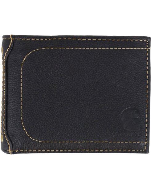 Carhartt Men's Leather Passcase Wallet, Black, hi-res