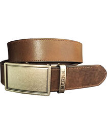 Berne Men's Brown Genuine Leather Buckle Belt, , hi-res