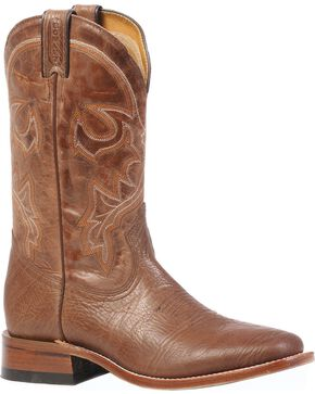 "Boulet Men's Square Toe 12"" Western Boots, Brown, hi-res"