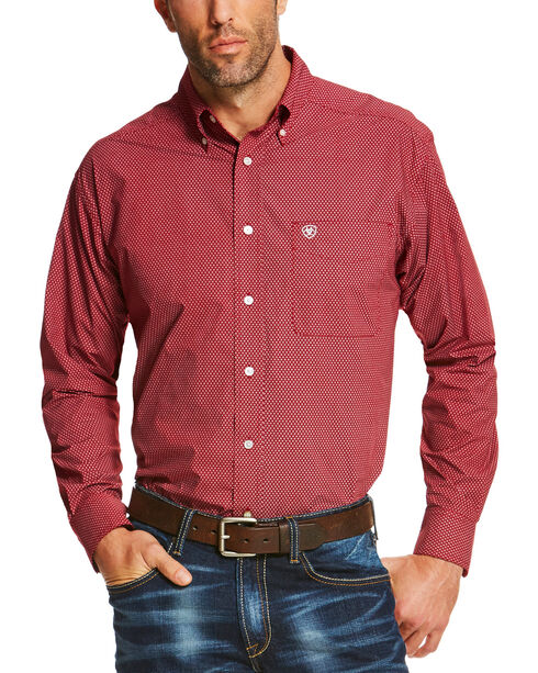 Ariat Men's Ruby Shafter Long Sleeve Western Shirt - Big, Ruby, hi-res