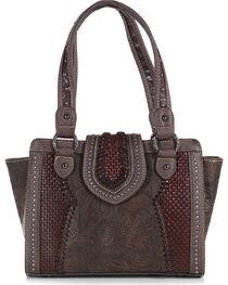 Trinity Ranch Women's Filigree Snap and Zip Shoulder Bag, , hi-res