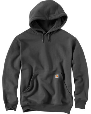 Carhartt Rain Defender Paxton Heavyweight Hooded Sweatshirt - Big & Tall, Dark Grey, hi-res