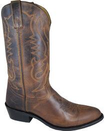 Smoky Mountain Men's Brown Denver Cowboy Boots - Round Toe, Brown, hi-res