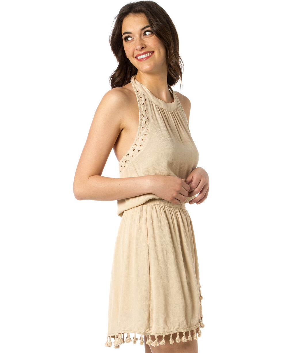 Miss Me Women's No Love Lost Dress, Taupe, hi-res