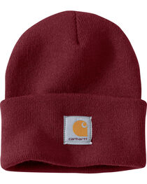 Carhartt Men's Burgundy Acrylic Watch Hat , , hi-res