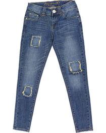 Shyanne® Girls' Patchwork Skinny Jeans, , hi-res