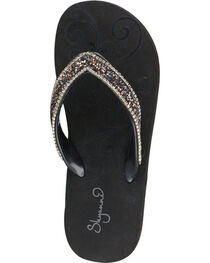 Shyanne® Women's Metallic Glitter Sandals, , hi-res