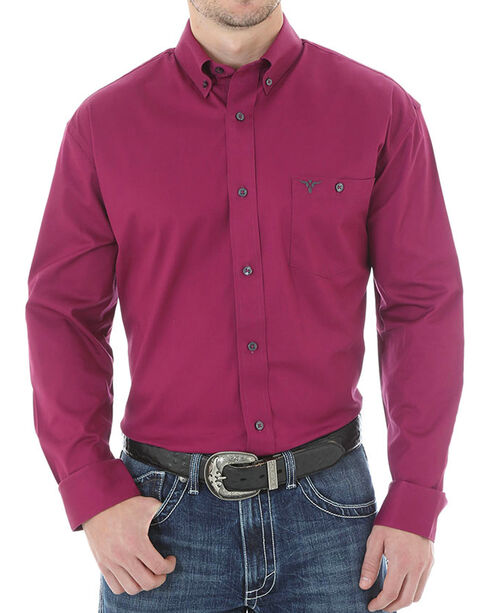 Wrangler 20X Advanced Comfort Solid Long Sleeve Shirt, Magenta, hi-res