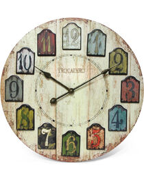 """Infinity Instruments 24"""" Weathered Plank Wall Clock, , hi-res"""
