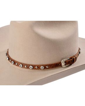 Cody James® Rhinestone Studded Hatband, Brown, hi-res