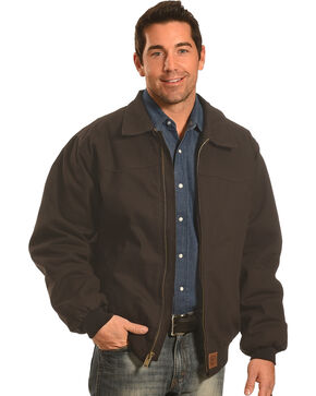 Forge Workwear Men's Black Canvas Jacket , Black, hi-res