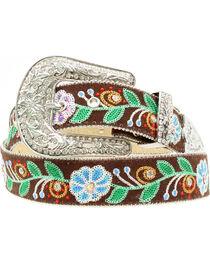 Blazin Roxx Floral Embroidered Belt, , hi-res