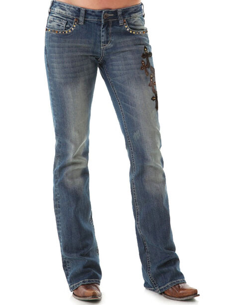 Cowgirl Tuff Women's Truly Blessed Boot Cut Jeans, , hi-res
