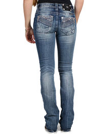 Miss Me Women's Mid-Rise Boot Cut Jeans , , hi-res