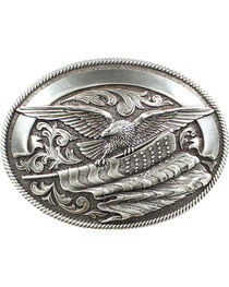 Nocona Bald Eagle & American Flag Buckle, , hi-res