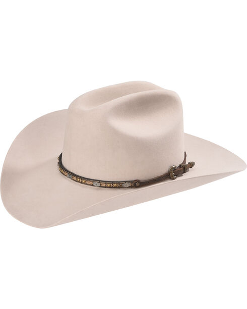 Phunky Horse Small Concho Leather Hat Band , Distressed Brown, hi-res