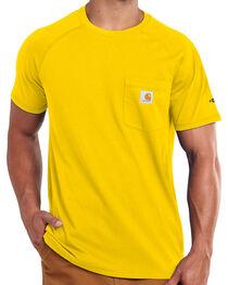 Carhartt Men's Yellow Force Cotton Delmont T-Shirt, , hi-res